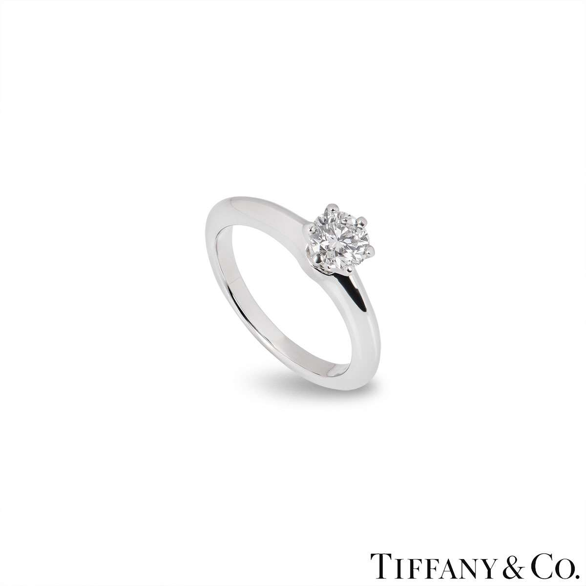 Tiffany & Co. Round Brilliant Cut Diamond Ring 0.60ct F/SI1